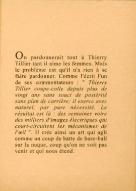 Thierry Tillier — Lieux et dérives du corps