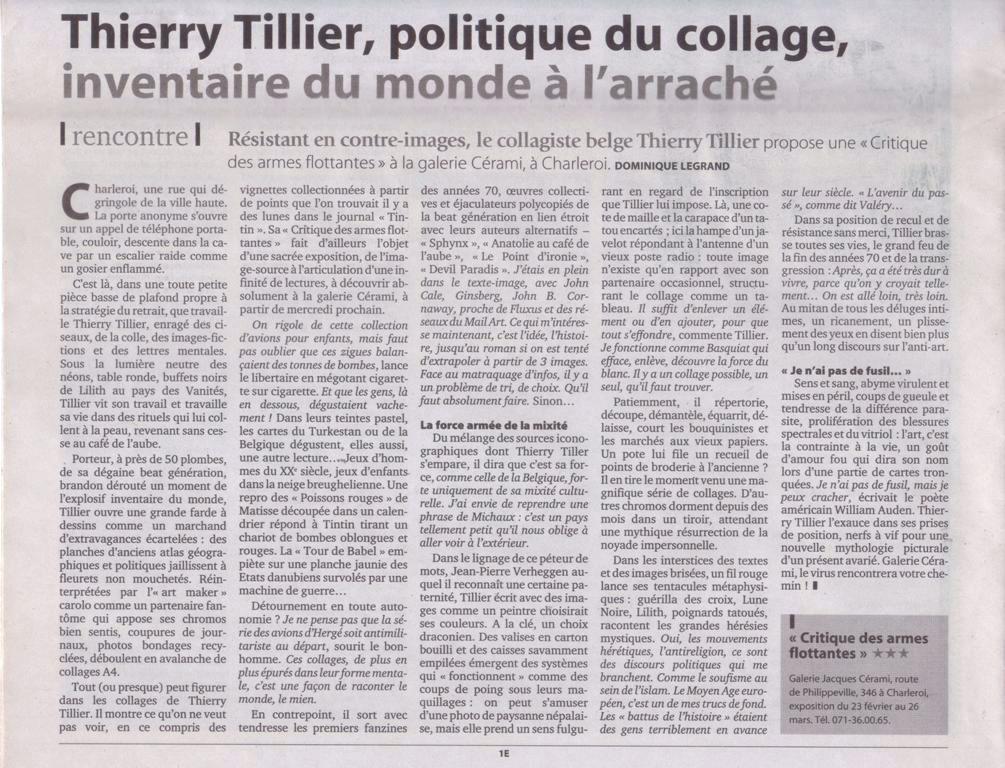 Thierry Tillier – Le Soir