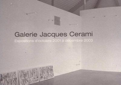 Expositions d'Octobre 2001 à Décembre 2003