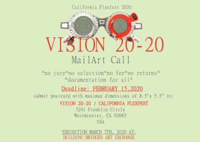 Vision 20-20 , California Fluxfest 2020